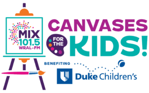 MIX 101.5's Canvases for the Kids @ Wine and Design
