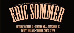 Eric Sommer in Concert @ Chatham Mills