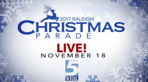 Raleigh Christmas Parade 2017 @ Begins on Hillsborough Street at St. Mary's Street
