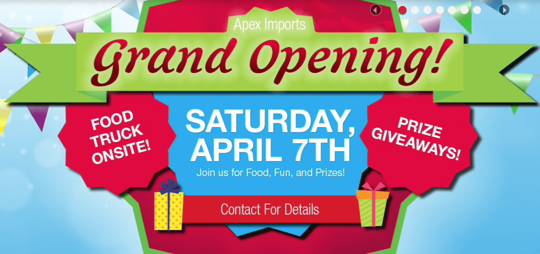 Apex Imports Grand Opening