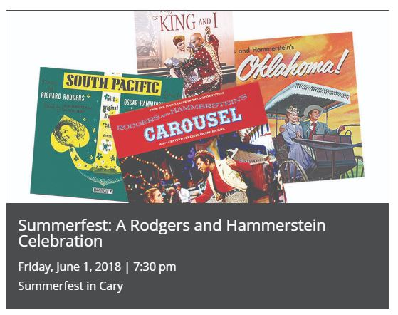SUMMERFEST: A RODGERS AND HAMMERSTEIN CELEBRATION @ Booth Amphitheatre