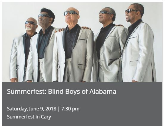 SUMMERFEST: BLIND BOYS OF ALABAMA @ Booth Amphitheatre