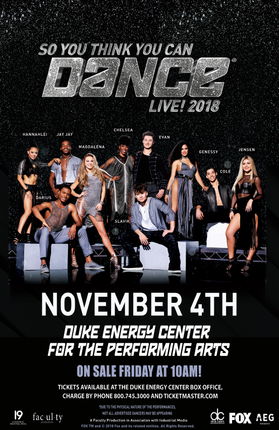 SO YOU THINK YOU CAN DANCE LIVE! @ Duke Energy Center for the Performing Arts | Raleigh | North Carolina | United States